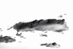 μαύρο λευκό καπνού ανασκό&p αφηρημένα σύννεφα Στοκ φωτογραφία με δικαίωμα ελεύθερης χρήσης