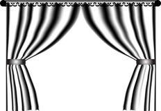 μαύρο λευκό κουρτινών απεικόνιση αποθεμάτων