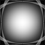 μαύρο λευκό κυμάτων συνόρ&ome Στοκ Φωτογραφία