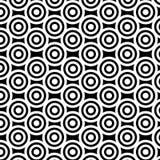 μαύρο λευκό κύκλων Απεικόνιση αποθεμάτων