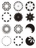 μαύρο λευκό λουλουδιώ&n στοκ εικόνα