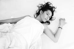μαύρο λευκό ομορφιάς Στοκ Εικόνες