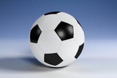 μαύρο λευκό ποδοσφαίρο&upsi Στοκ φωτογραφίες με δικαίωμα ελεύθερης χρήσης