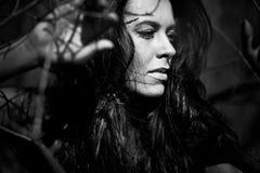 μαύρο λευκό πορτρέτου κλ Στοκ φωτογραφίες με δικαίωμα ελεύθερης χρήσης
