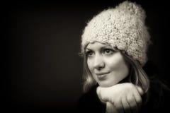 μαύρο λευκό πορτρέτου Στοκ Εικόνες