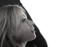 μαύρο λευκό πορτρέτου Στοκ Εικόνα