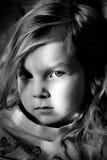 μαύρο λευκό πορτρέτου Στοκ εικόνες με δικαίωμα ελεύθερης χρήσης