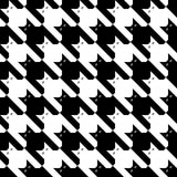 μαύρο λευκό προτύπων catstooth Στοκ εικόνες με δικαίωμα ελεύθερης χρήσης