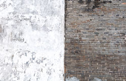 μαύρο λευκό τουβλότοιχ&omic στοκ εικόνες