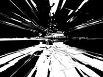 μαύρο λευκό grunge ανασκόπησης Στοκ φωτογραφία με δικαίωμα ελεύθερης χρήσης