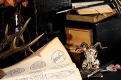 Μαύρο μαγικό τελετουργικό κεριών Στοκ φωτογραφίες με δικαίωμα ελεύθερης χρήσης