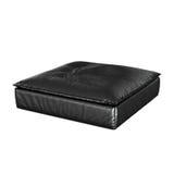 Μαύρο μαξιλάρι πουφ Στοκ εικόνα με δικαίωμα ελεύθερης χρήσης