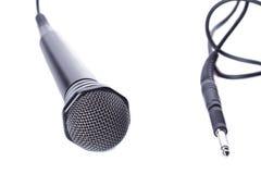 μαύρο μικρόφωνο Στοκ Εικόνα