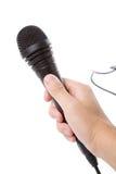 μαύρο μικρόφωνο Στοκ Εικόνες