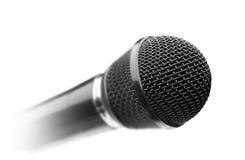 μαύρο μικρόφωνο Στοκ Φωτογραφία