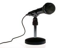 μαύρο μικρόφωνο Στοκ εικόνα με δικαίωμα ελεύθερης χρήσης