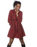 Μαύρο μοντέλο μόδας στοκ φωτογραφίες με δικαίωμα ελεύθερης χρήσης