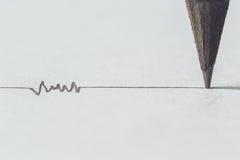 Μαύρο μολύβι με το κτύπημα Στοκ φωτογραφία με δικαίωμα ελεύθερης χρήσης