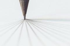 Μαύρο μολύβι με το κτύπημα Στοκ φωτογραφίες με δικαίωμα ελεύθερης χρήσης