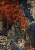 μαύρο μπλε κόκκινο ανασκό&p Στοκ Φωτογραφίες