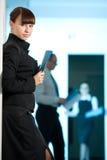 μαύρο μπλε σακάκι κοριτσ&i Στοκ εικόνα με δικαίωμα ελεύθερης χρήσης