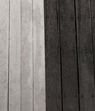Μαύρο ξύλινο και άσπρο ξύλινο υπόβαθρο Στοκ Φωτογραφίες