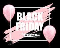 Μαύρο οριζόντιο έμβλημα πώλησης Παρασκευής Στοκ φωτογραφία με δικαίωμα ελεύθερης χρήσης