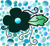 μαύρο λουλούδι Στοκ εικόνες με δικαίωμα ελεύθερης χρήσης
