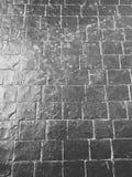 Μαύρο πάτωμα τούβλου Στοκ Φωτογραφίες