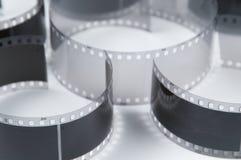 μαύρο παλαιό λευκό ταινιών Στοκ Φωτογραφίες