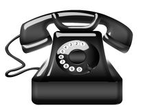 μαύρο παλαιό τηλέφωνο Στοκ Εικόνα