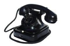 μαύρο παλαιό τηλέφωνο Στοκ εικόνες με δικαίωμα ελεύθερης χρήσης