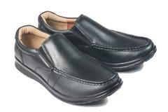 Μαύρο παπούτσι δέρματος Στοκ εικόνα με δικαίωμα ελεύθερης χρήσης