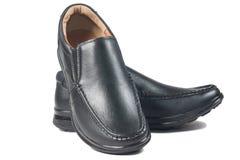 Μαύρο παπούτσι δέρματος Στοκ Φωτογραφίες