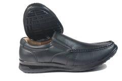 Μαύρο παπούτσι δέρματος Στοκ Εικόνες