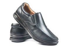 Μαύρο παπούτσι δέρματος Στοκ Εικόνα