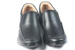 Μαύρο παπούτσι δέρματος Στοκ εικόνες με δικαίωμα ελεύθερης χρήσης