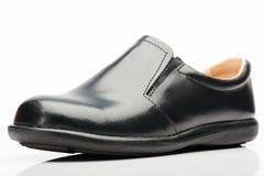Μαύρο παπούτσι χωρίς τις δαντέλλες στοκ εικόνες