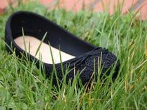 μαύρο παπούτσι Στοκ Φωτογραφία