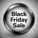 Μαύρο Παρασκευής μεταλλικό πλαίσιο κουμπιών πώλησης ρεαλιστικό απεικόνιση αποθεμάτων