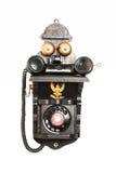 μαύρο παλαιό τηλέφωνο Στοκ Εικόνες