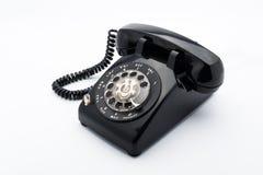 Μαύρο παλαιό telephon με το περιστροφικό dia Στοκ εικόνες με δικαίωμα ελεύθερης χρήσης