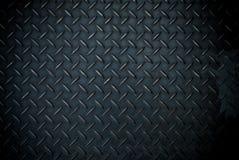 Μαύρο πιάτο χάλυβα διαμαντιών Στοκ Φωτογραφία