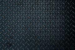 Μαύρο πιάτο χάλυβα διαμαντιών Στοκ Εικόνα