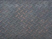 Μαύρο πιάτο χάλυβα διαμαντιών Στοκ Εικόνες