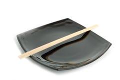 μαύρο πιάτο Στοκ Εικόνες