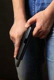 μαύρο πιστόλι Στοκ εικόνες με δικαίωμα ελεύθερης χρήσης