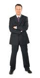μαύρο πλήρες κοστούμι επιχειρηματιών σωμάτων Στοκ εικόνα με δικαίωμα ελεύθερης χρήσης