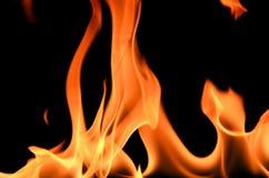 μαύρο πλαίσιο πυρκαγιάς ανασκόπησης Στοκ Φωτογραφίες