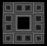 μαύρο πλαίσιο bw Διανυσματική απεικόνιση